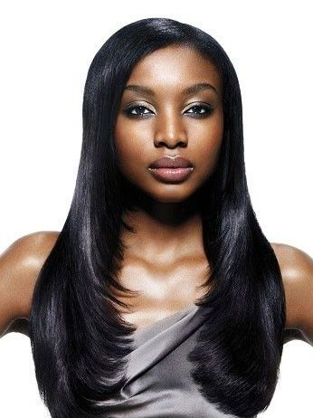 Popular Long Straight Synthetic African American Wig, African American Wiga