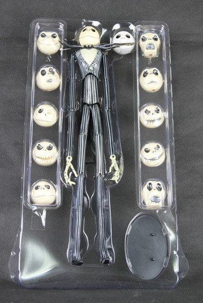 Classic Animation Movie Tim Burton The Nightmare Before Christmas Jack Skellington 12 Face 35CM Action Figure New Box Alternative Measures