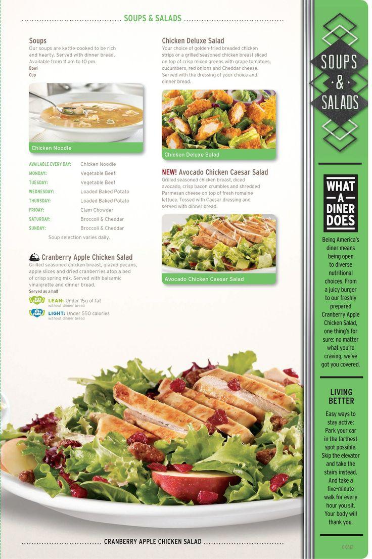 Denny S Soups And Salads Menu Dennys Com Restaurant Menu Design Food Menu Menu Design