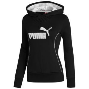 PUMA Fleece Hoodie - Women's - Sport Inspired - Clothing - Black/White http://www.champssports.com/product/model:181929/sku:82290901/puma-fleece-hoodie-womens/black/white/?cm=QUICK%20VIEW%3A%20ADD%20TO%20CART%3A%20MORE%20INFO