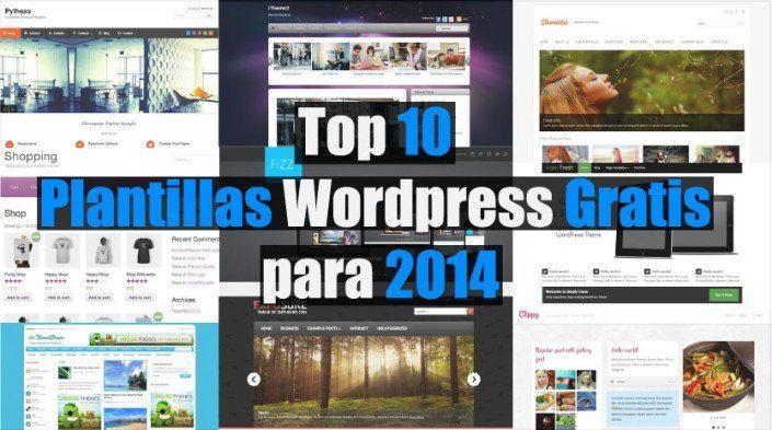 Top 10 mejores plantillas wordpress gratis para 2014