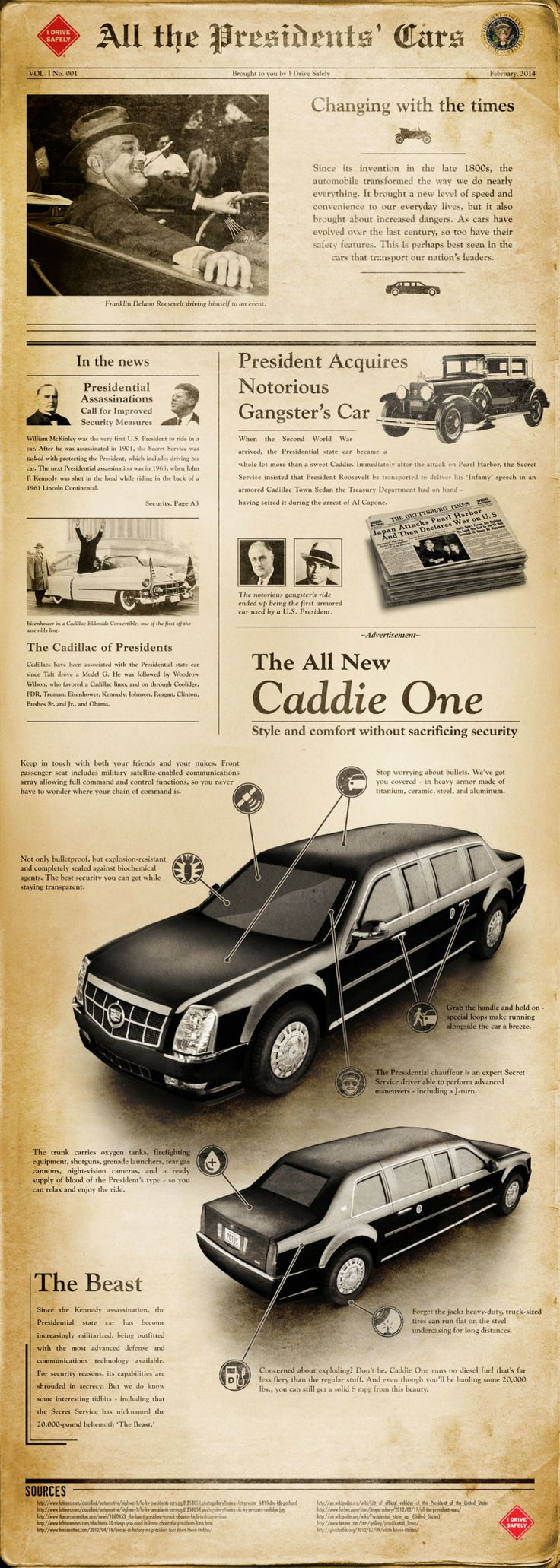 All the Presidents' Cars   #Infographic #Cars #President