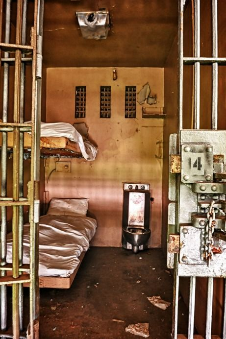 """Photograph from abandoned Tennessee State Prison. """"Typical death row cell"""". The website is really fascinating. ...click on in - really come on....."""