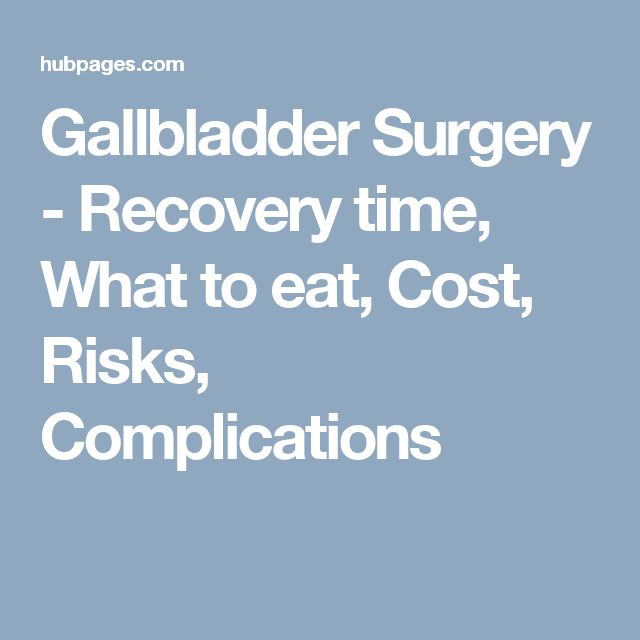 Gallbladder Surgery - Recovery time, What to eat, Cost, Risks, Complications