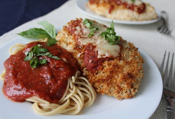Baked Chicken Parmesan http://www.thesaltykitchen.com/easy-baked ...