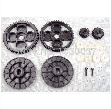 Высокая скорость шестерни металла комплект 58 т / 16 т и 55 т / 19 т цилиндрическое зубчатое колесо шестерня устанавливает подходит HPI Baja 5B 5 т 5SC сс