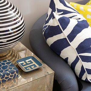 Greek Key Tray, Contemporary, living room, Liz Caan Interiors