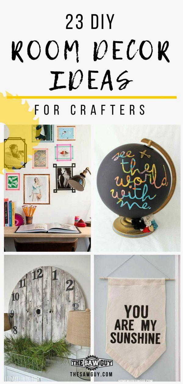 23 Diy Room Decor Ideas For Crafters Diy Room Decor Fun Diy
