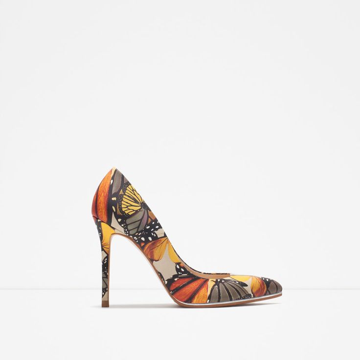 PRINTED LEATHER COURT SHOE