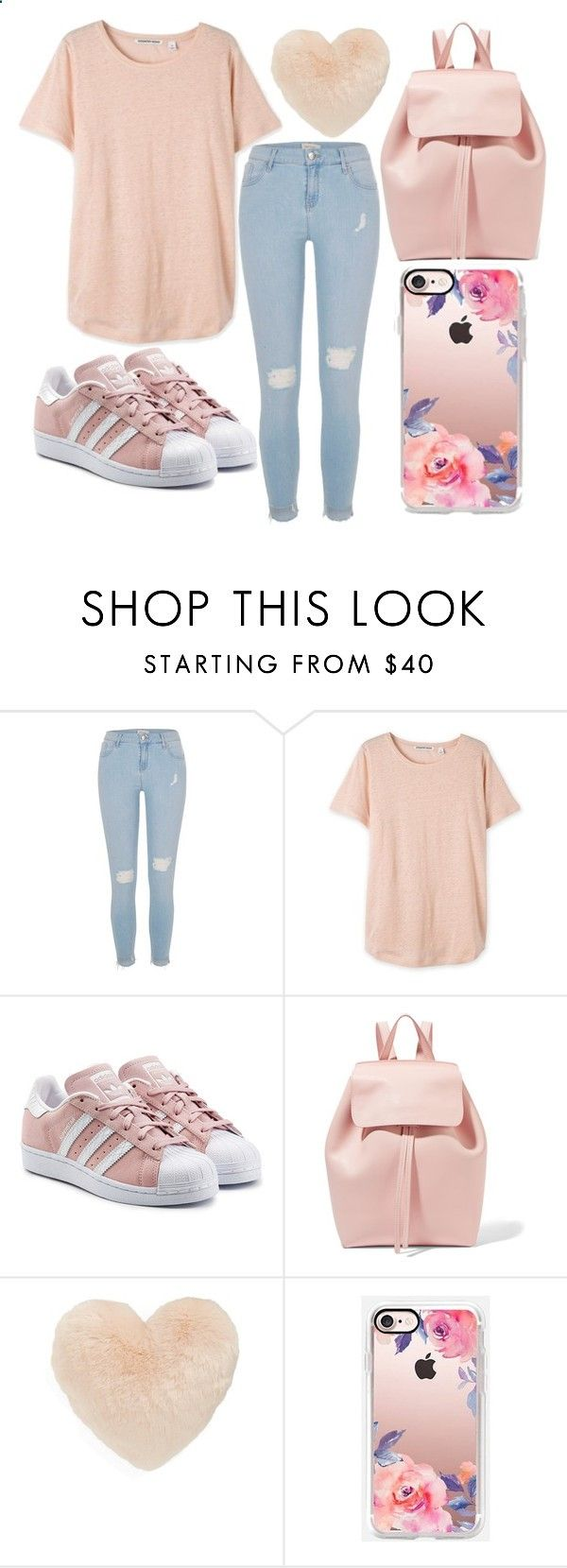 Pink by kaitlyn-ashby101 ❤ liked on Polyvore featuring River Island, adidas Originals, Mansur Gavriel, Nordstrom and Casetify