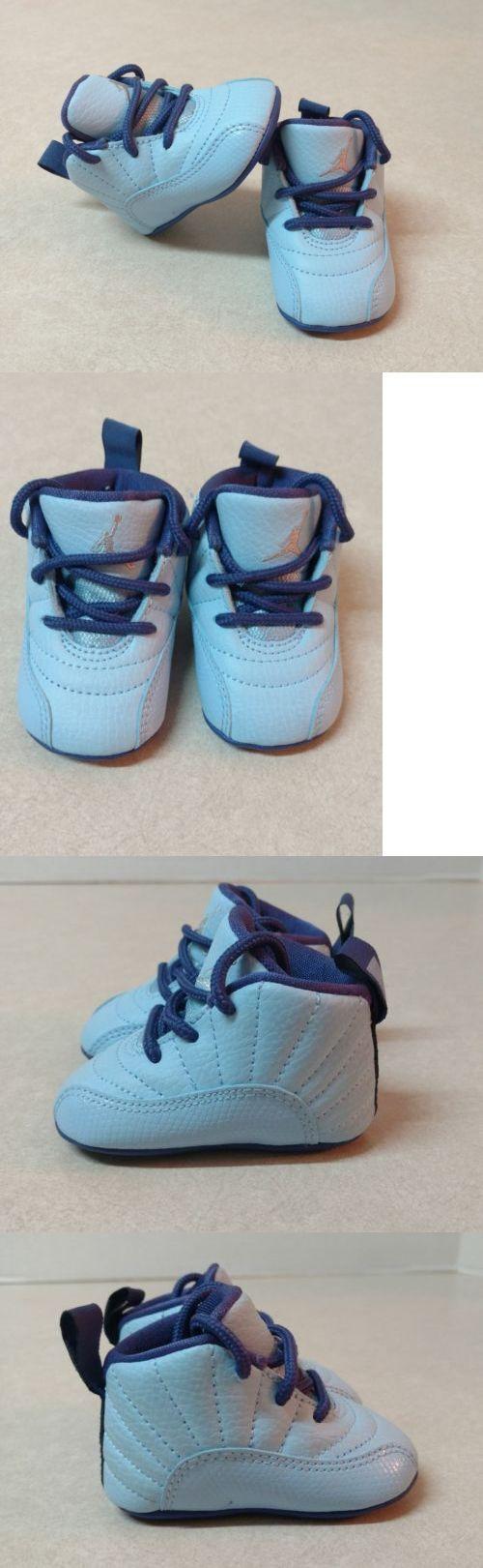 Baby Boy Shoes: Nike Jordan 12 Retro Baby Boy Girl Crib Shoes Blue 378139 418 Size 1C -> BUY IT NOW ONLY: $25.99 on eBay!