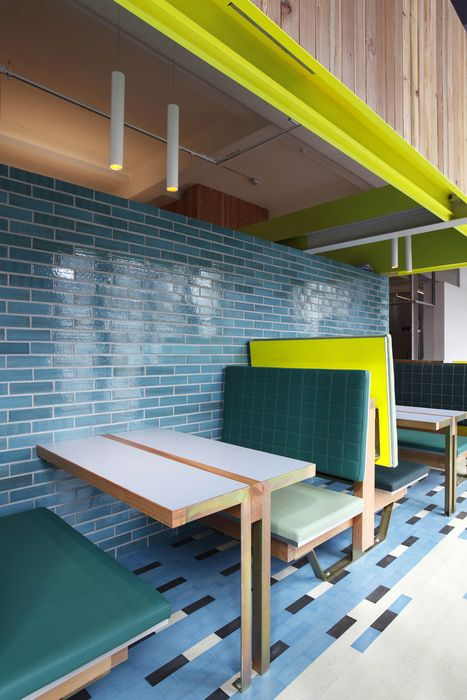 Funky booth seating by BKD.