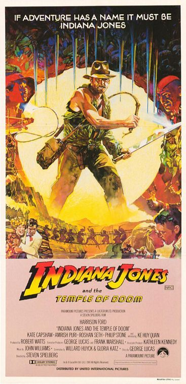 Indiana Jones and the Temple of Doom.  1984.  This is a pretty interesting version you don't see often.