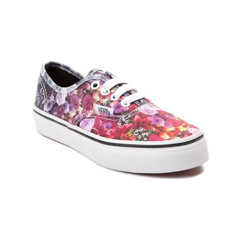 Add some floral flair to any ensemble, with the new Authentic Floral Skate  Shoe from Vans! The Authentic Floral Skate Shoe sports a low top design  with ...