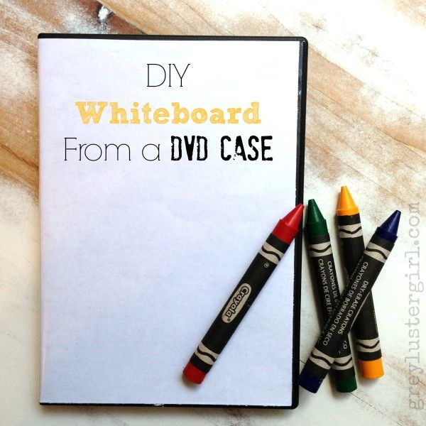 DIY whiteboard from a dvd case! Perfect for traveling with kids!