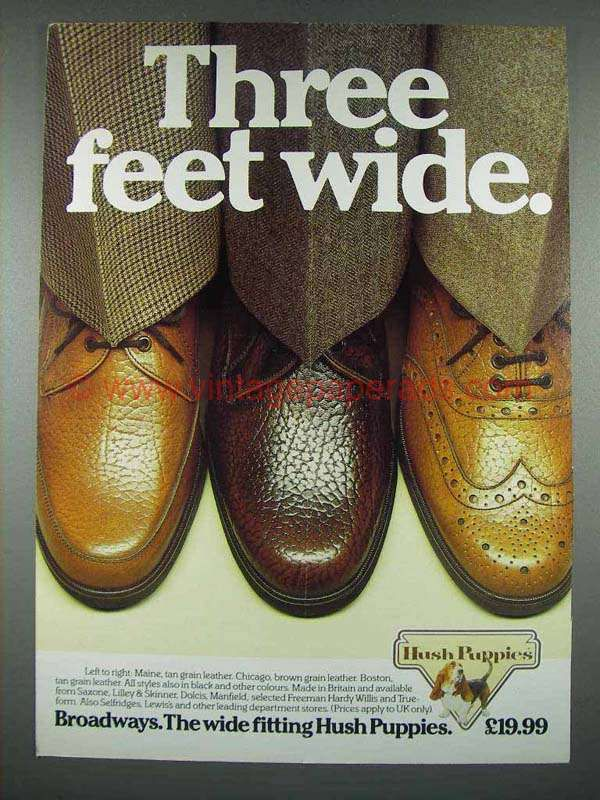 1983 Hush Puppies Shoes Ad Maine Chicago Boston Shoes Ads Hush Puppies Shoes Hush Puppies