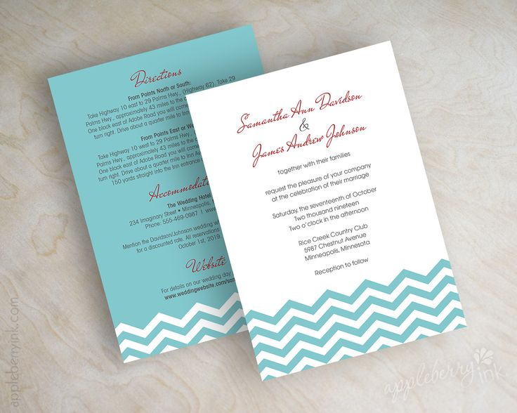 172 best Wedding Invitations images – Tiffany Blue and Red Wedding Invitations