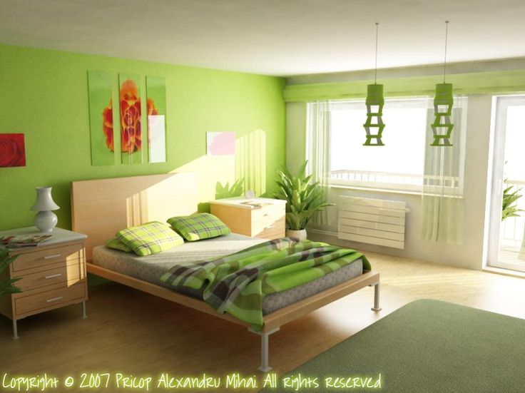 Green Bedroom | Amazing Green Bedroom Green Bedroom Listed In: Bedroom  Painting Ideas .