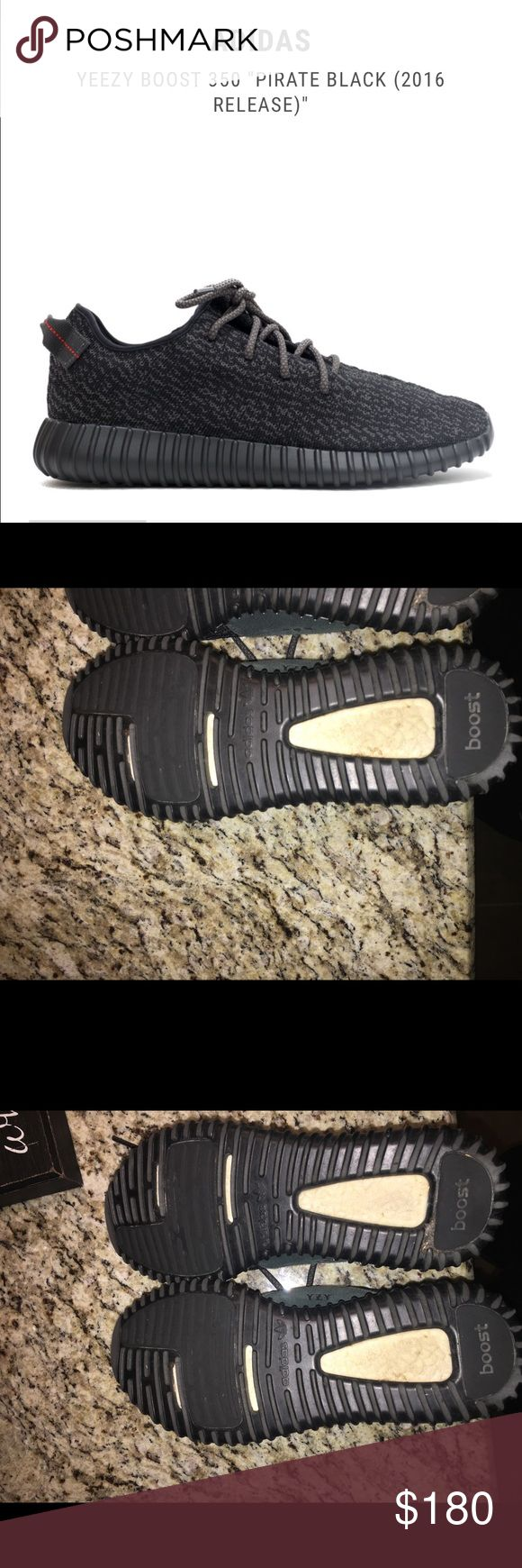 Version 1 pirate black Kanye West Yeezy Adidas Gently worn and in great condion. Very comfortable and a great price! 9 in womens Yeezy Shoes