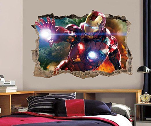 Amazon.com: IRON MAN The Avengers Smashed Wall Decal Removable Graphic Wall  Sticker H159 Part 57
