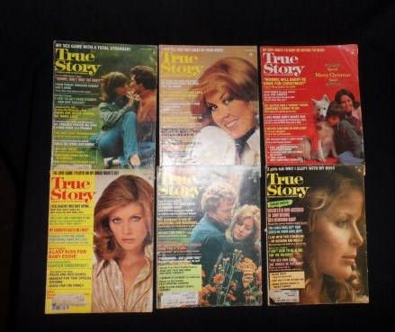 1970's TRUE STORY Magazines-6 1976 & 1977 Issues-Vintage Reading-Retro Entertainment-Lifestyle-Illustrated-Orphaned Treasure-050117T by OrphanedTreasure on Etsy