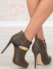 Kotníkové boty na jehlovém podpatku Darby - W-Lady Exclusive - šedá