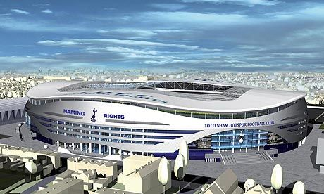 New Spurs football ground coming soon.