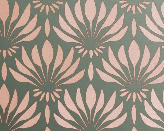 Beautiful stencil--makes me think of @Sherry @ Young House Love's post today about Clara's closet!