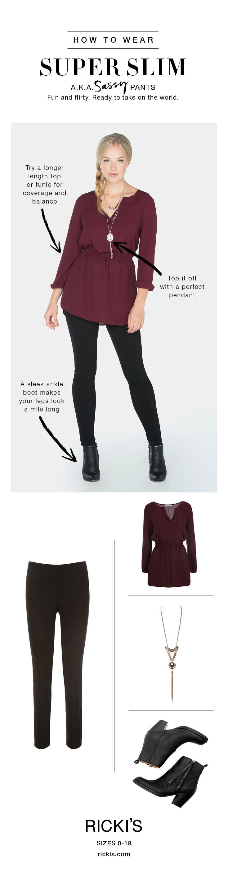 How to wear Ricki's Super Slim pants #rickis #loverickis #rickisfashion #fall…