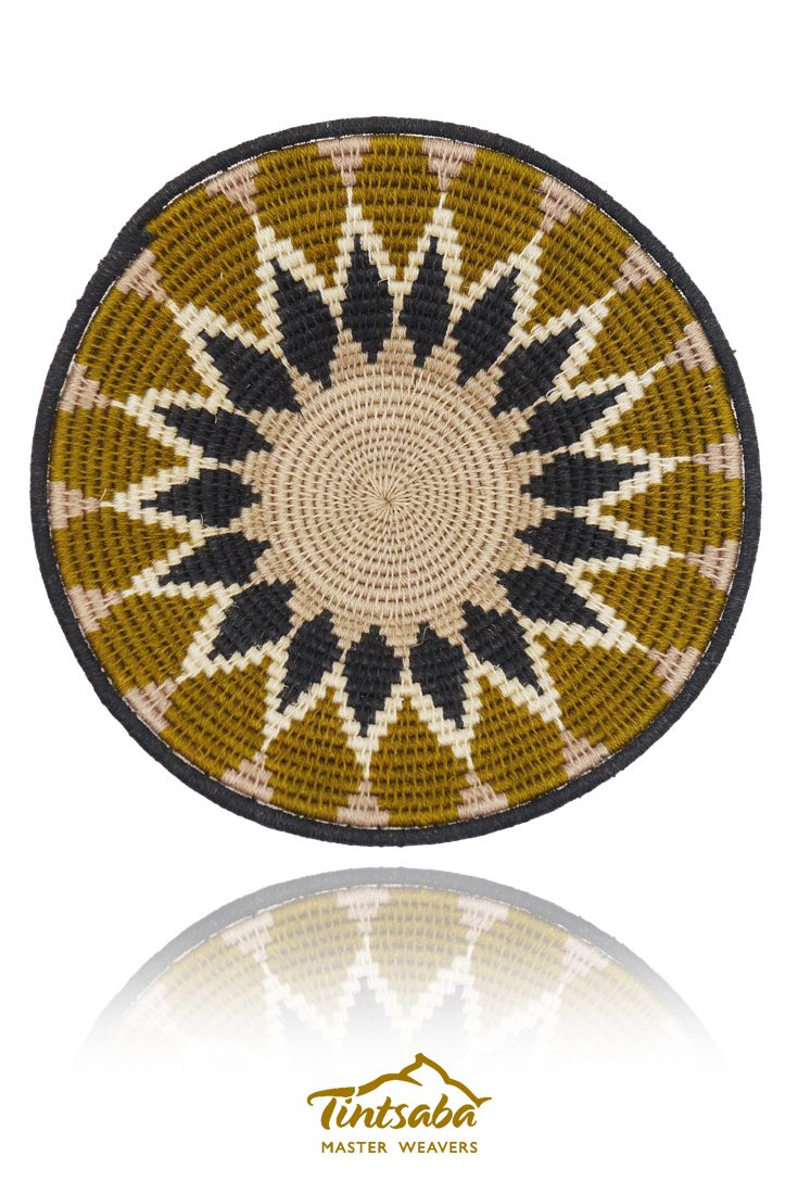 16cm craft grade sisal handwoven basket by Tintsaba in Swaziland.
