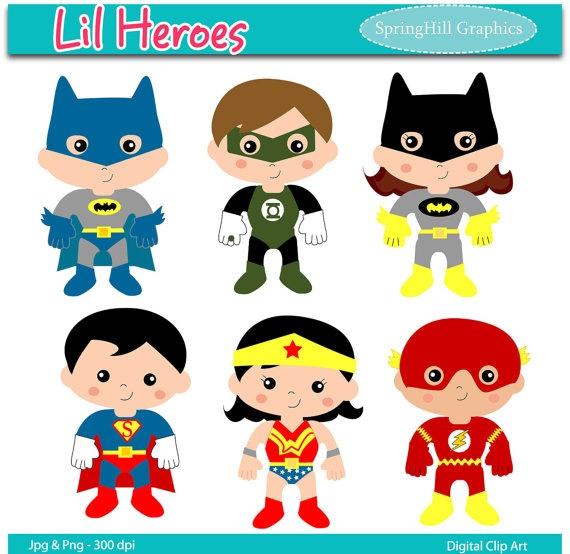 superhero clip art $4.75 | Moy | Pinterest | Art Web, Clip ...