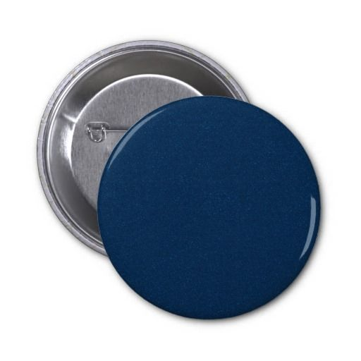 PANTONE Classic Blue with fine faux Glitter Pinback Button