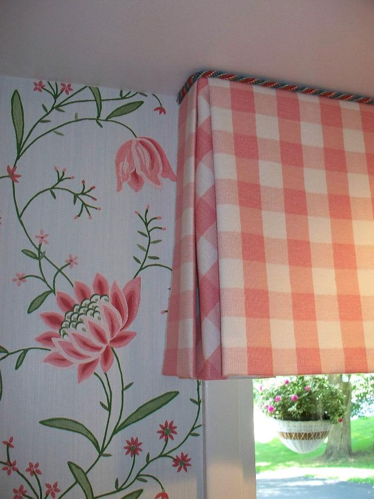 Note the detail - the fabric on the inside of the box pleat has been cut on the bias I Workroom of Parkway Window Works
