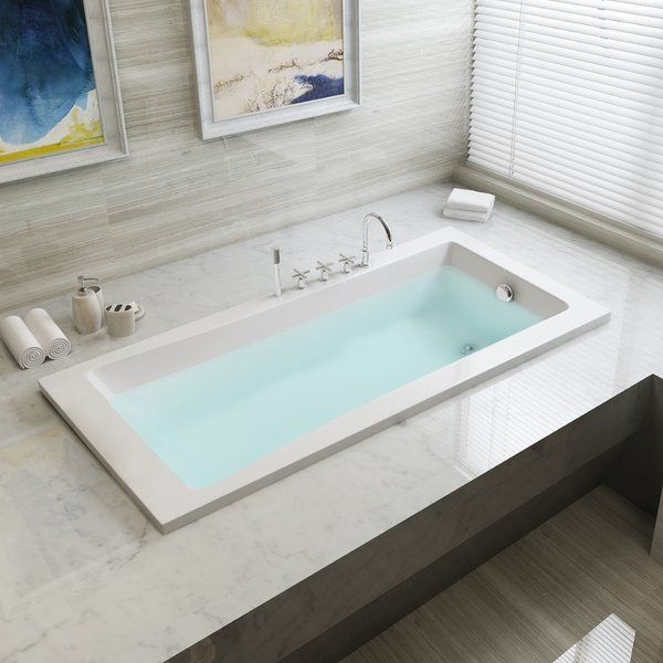 Aqua Eden 59 X 30 Drop In Soaking Fiberglass Bathtub In 2020 Soaking Bathtubs Bathtub Remodel Bathtub