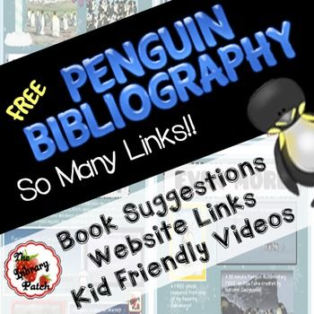 Your+friendly+neighborhood+TpT+librarian+has+put+together+a+clickable+bibliography+for+you+...+centered+around+one+of+our+favorite+cold+weather+animals,+the+penguin.+This+FREE+download+includes+my+favorite+nonfiction+titles,+kid-friendly+websites,+and+videos+that+relate+to+all+different+aspects+of+the+penguin.