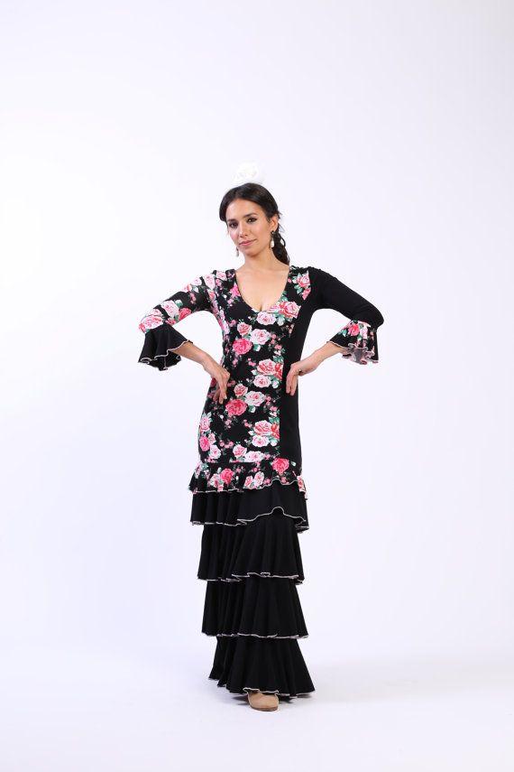 NOUVEAU *** robe flamenco fleurs, design Flamencita, robe espagnole.