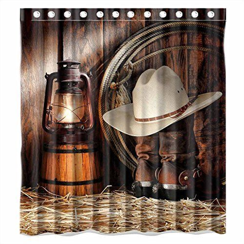 Shower Curtain American West Rodeo Cowboy Bathroom Shower Curtain  #ShowerCurtain