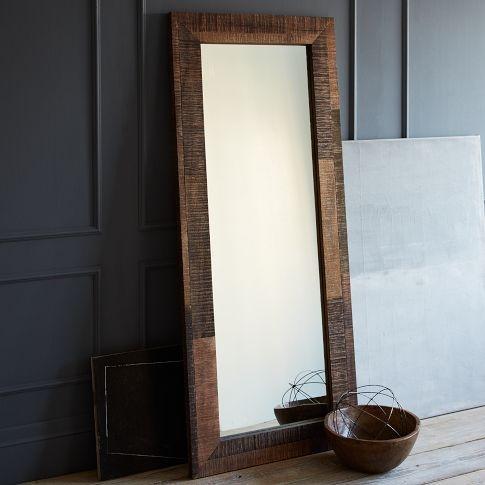 reclaimed wood floor mirror west elm for the home pinterest. Black Bedroom Furniture Sets. Home Design Ideas