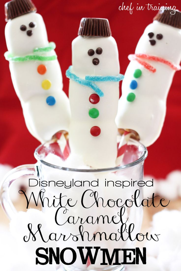 White Chocolate Caramel Marshmallow Snowman