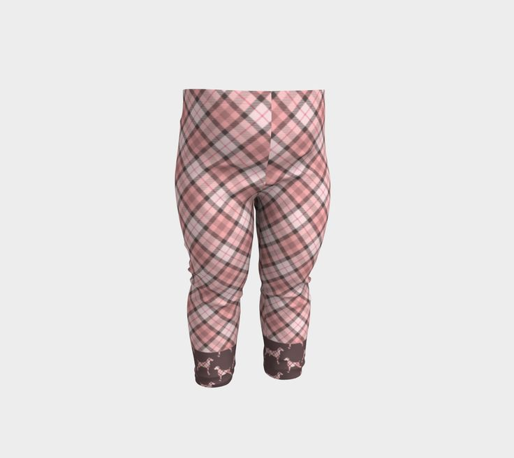 "Baby+Leggings+""PINK+TARTAN+WEIMARANER+BROWN+BAN""+by+BLU+WEIM+DESIGNS"