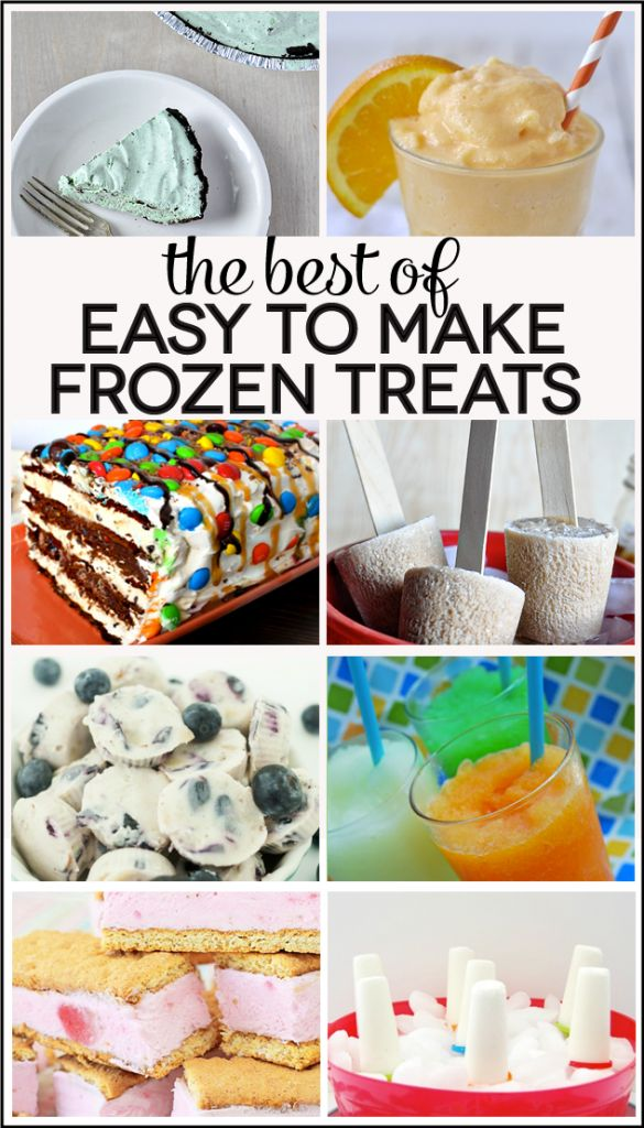 the Best of Easy to Make Frozen Treats www.thirtyhandmadedays.comFood Snacks Drinks, Easy, Frozen Treats, Delicious Recipe, Summer, Ice Cream, Yummy Treats, Food Recipe, Cooking Recipes