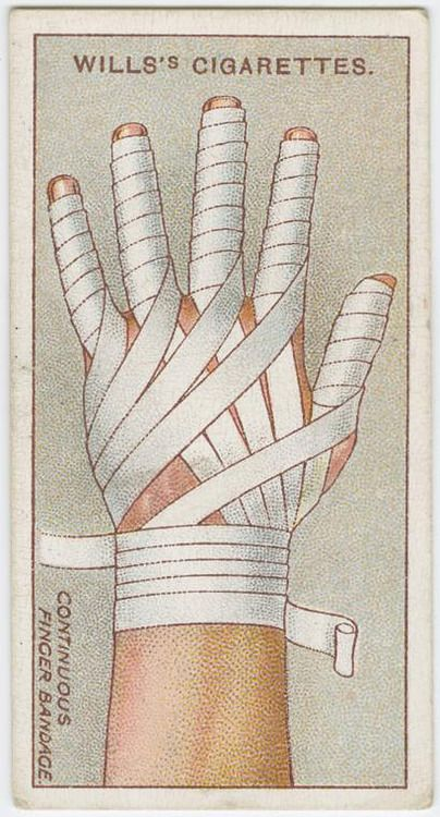 Finger Bandage / Will's cigarette card