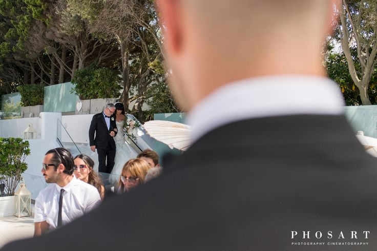 Graham Brett & Walker Kaylie. Santorini Weddings, Wedding venue, Wedding ceremony and reception, Sunset view.
