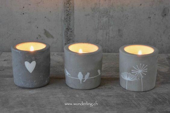 Kerzenbecher aus Beton