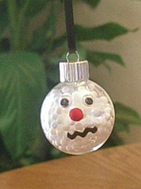 167 best images about the snowman on pinterest ceramics for Clear ornament snowman craft