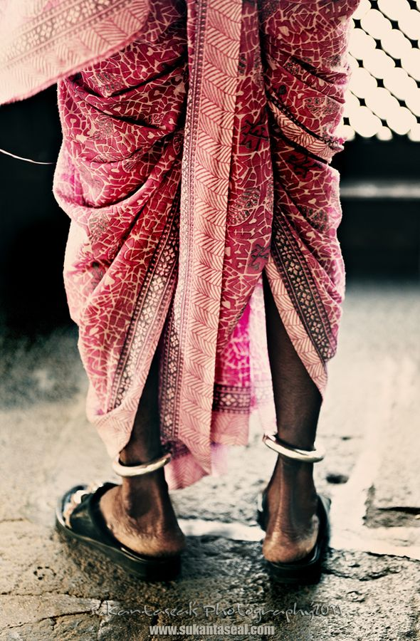 """Traditional 9 yard, """"navwari"""" style saree from Maharashtra state - my grandmothers wore their sarees in this stle:-)"""