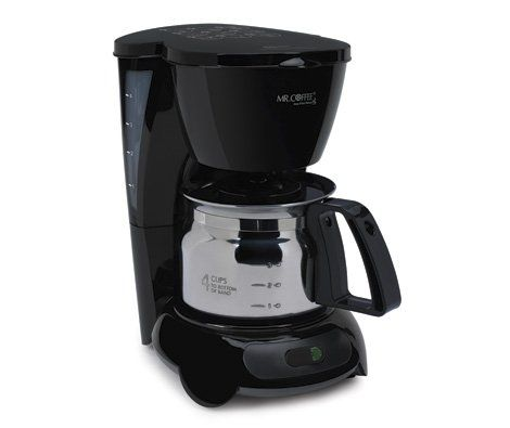 Mr. Coffee 4 Cup Coffee Maker with Stainless Steel Carafe - http://www.teacoffeestore.com/mr-coffee-4-cup-coffee-maker-with-stainless-steel-carafe-2/