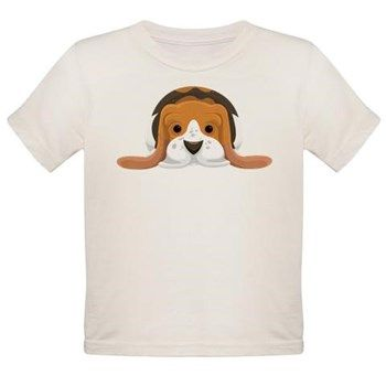 Basset Hound baby organic Tee from cafepress store: AG Painted Brush T-Shirts. #baby #dog #bassethound #organic