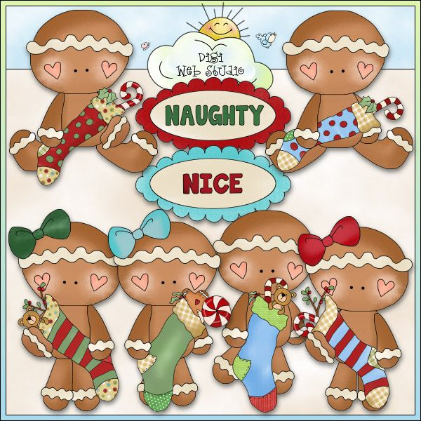 Little Gingers Christmas Stockings 1 - NE Cheryl Seslar Clip Art : Digi Web Studio, Clip Art, Printable Crafts & Digital Scrapbooking!