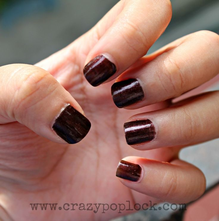 Maybelline, Wined and dined, nail color, vampy nails